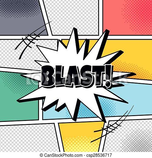 cartoon theme comic template halftone art vector art illustration