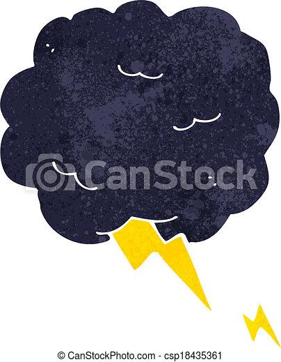 cartoon thundercloud symbol - csp18435361