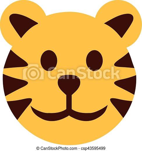 cartoon tiger head eps vectors search clip art illustration rh canstockphoto com tiger head clip art toothless lsu tiger head clipart