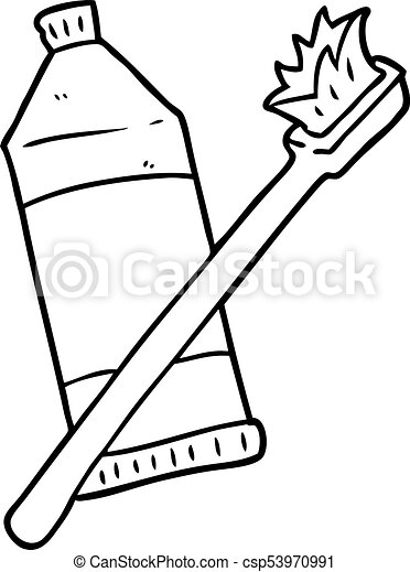 Cute Toothbrush Drawing Cartoon toothpa...