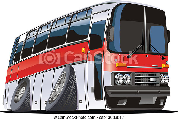 Cartoon tourist bus - csp13683817
