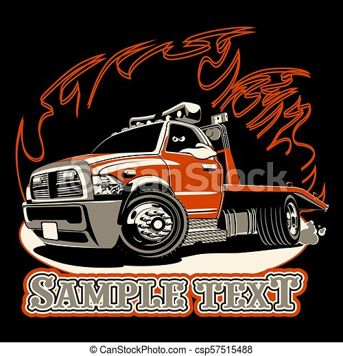 Cartoon tow truck - csp57515488