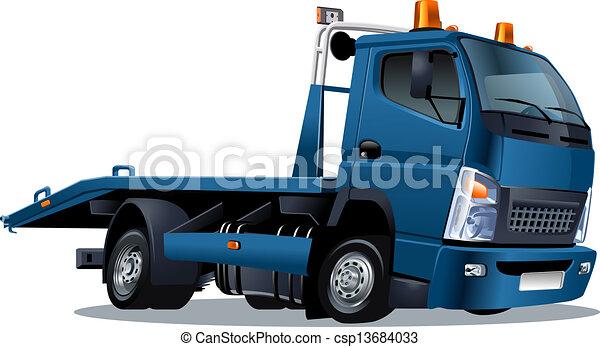 Cartoon tow truck - csp13684033