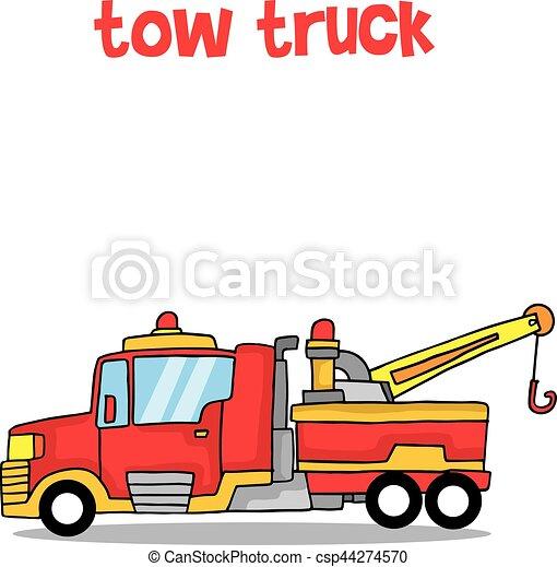 cartoon tow truck vector art collection stock vectors illustration rh canstockphoto com vector truck vector truck