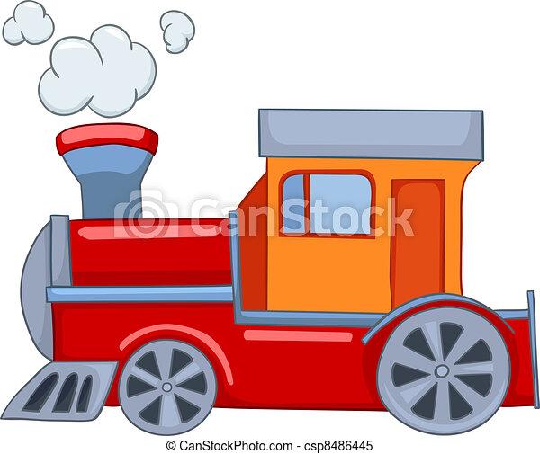 cartoon train cartoon illustration train isolated on white