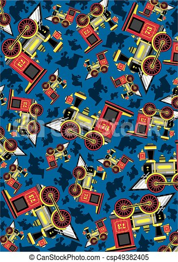 Cartoon Train Pattern - csp49382405