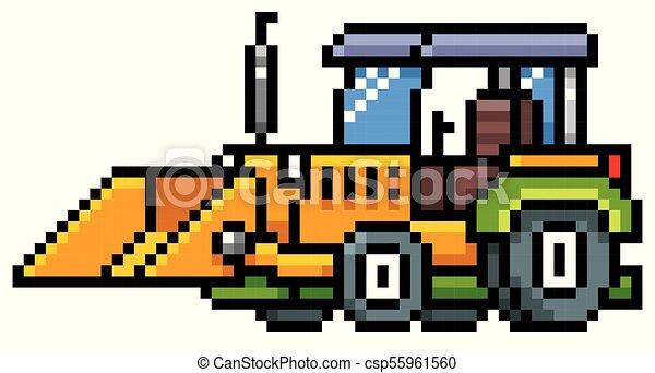Cartoon Traktor Illustration Cartoon Vektor Konstruktion
