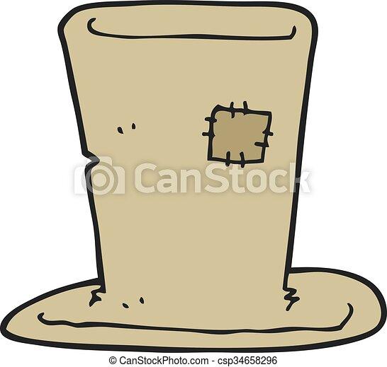 cartoon tramp top hat - csp34658296