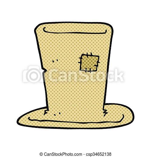 cartoon tramp top hat - csp34652138
