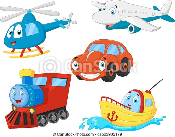 Cartoon transportation collection - csp23905179