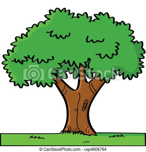 Cartoon tree - csp4606764