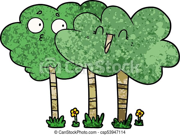 Cartoon Trees With Faces Canstock Kind of looks like an umbrella… or perhaps even a firework, the blue line representing its path before. https www canstockphoto com cartoon trees with faces 53947114 html