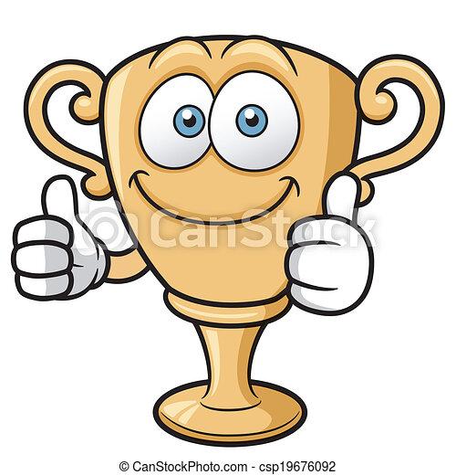 Cartoon Trophy - csp19676092