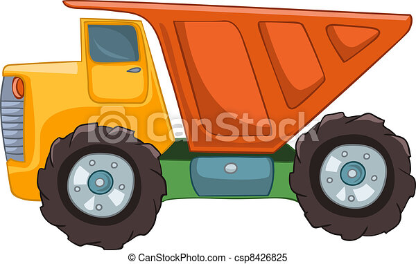 Cartoon Truck - csp8426825
