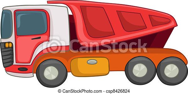 Cartoon Truck - csp8426824