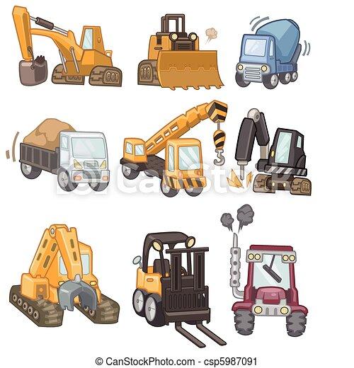 cartoon truck icon  - csp5987091
