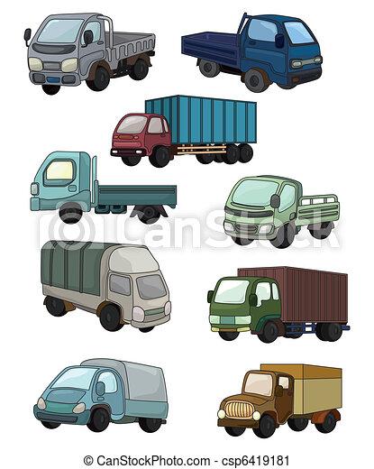 cartoon truck icon  - csp6419181