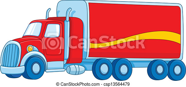 Cartoon truck - csp13564479