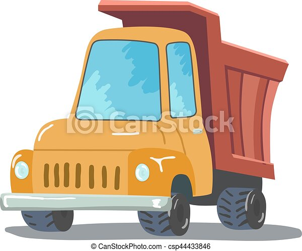 Cartoon Truck isolated on white background. Vector - csp44433846