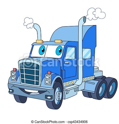 cartoon truck lorry - csp43434906