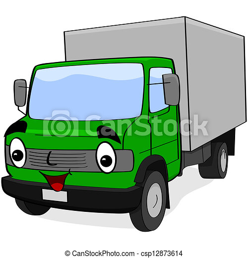 Cartoon truck - csp12873614