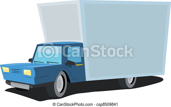 Cartoon Truck - csp8509841