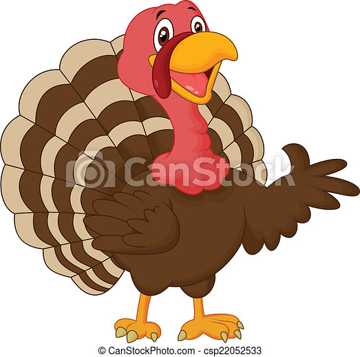 Cartoon turkey presenting - csp22052533