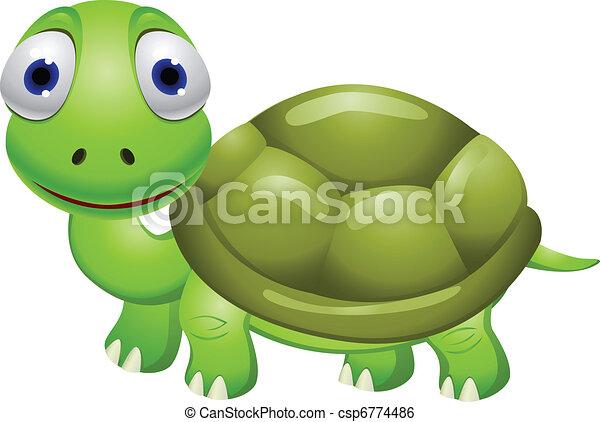 Cartoon turtle - csp6774486