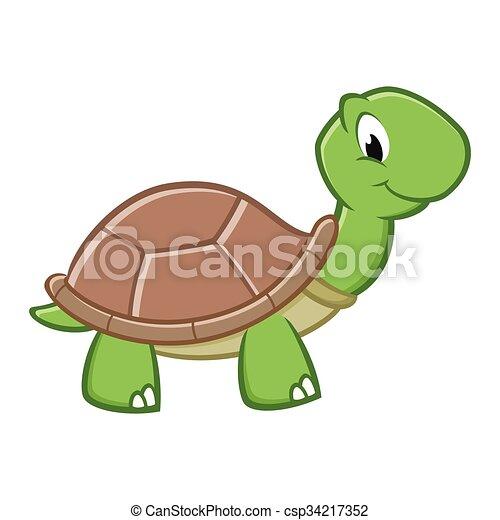 Cartoon Turtle  - csp34217352