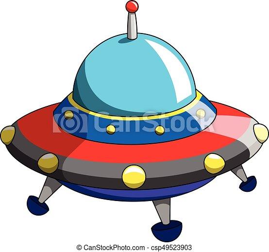 Cartoon ufo alien ship craft. Cartoon ufo or alien ship ...