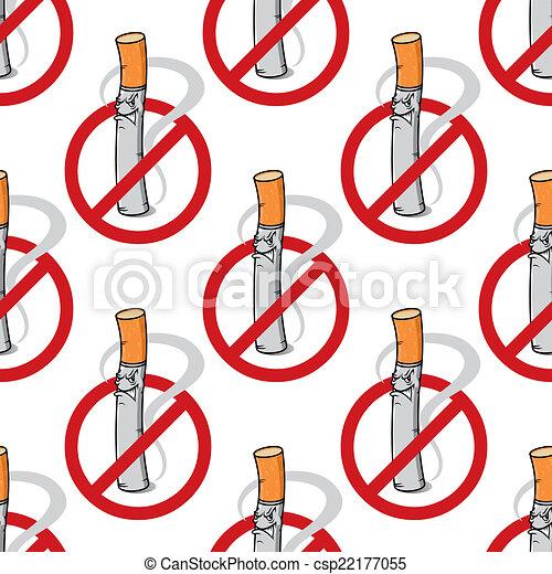 Cartoon unhappy cigarette seamless pattern - csp22177055