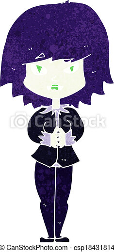 cartoon vampire woman - csp18431814