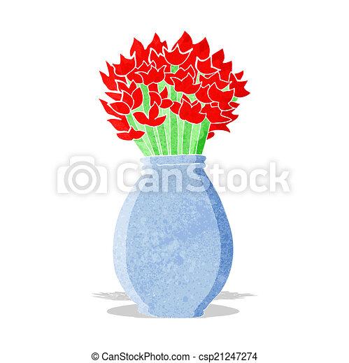 Cartoon Vase Of Flowers