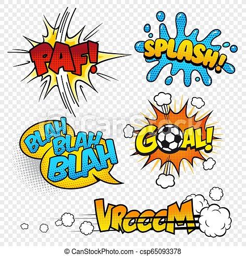 Cartoon Vector Comic Sound Effects Set3 Canstock