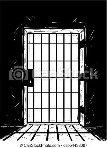 Cartoon Vector Drawing Of Prison Door Casting Shadow  sc 1 st  Can Stock Photo & Cartoon vector drawing of prison door casting shadow.... vector ...
