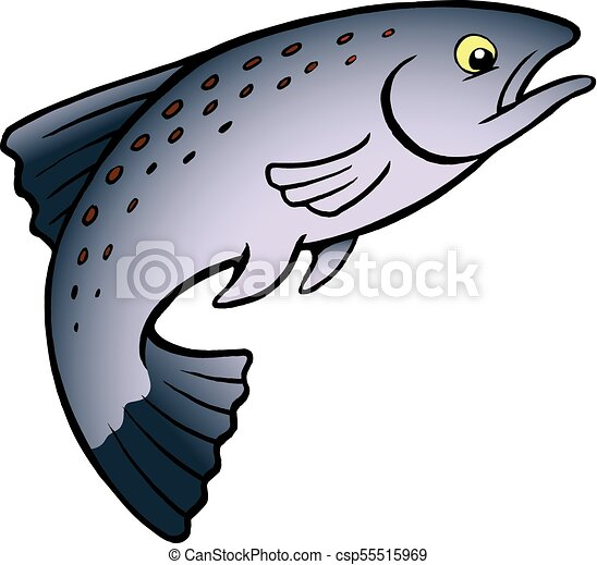 cartoon vector illustration of a salmon or trout fish clip art rh canstockphoto com salmon clip art images king salmon clipart