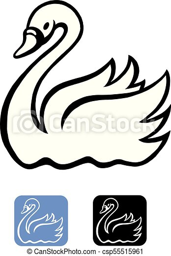 cartoon vector illustration of an swan in black and white line rh canstockphoto com swan images clip art swan clip art images