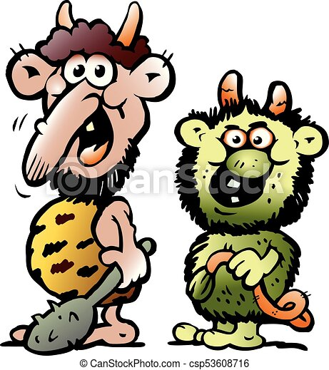 cartoon vector illustration of two funny goblins or troll vector rh canstockphoto com troll clipart image troll clipart image