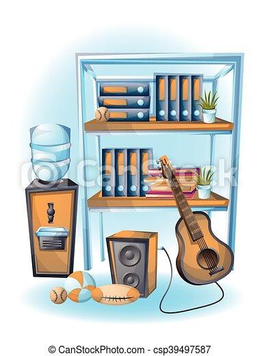 cartoon vector illustration office Cabinet object - csp39497587