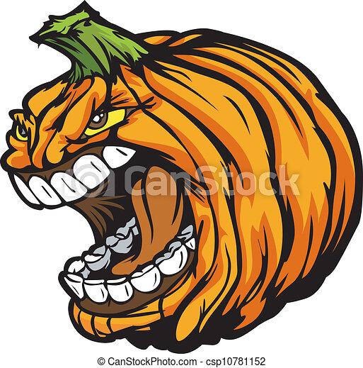 cartoon vector image of a scary screaming halloween pumkin rh canstockphoto com spooky halloween clipart creepy halloween clipart