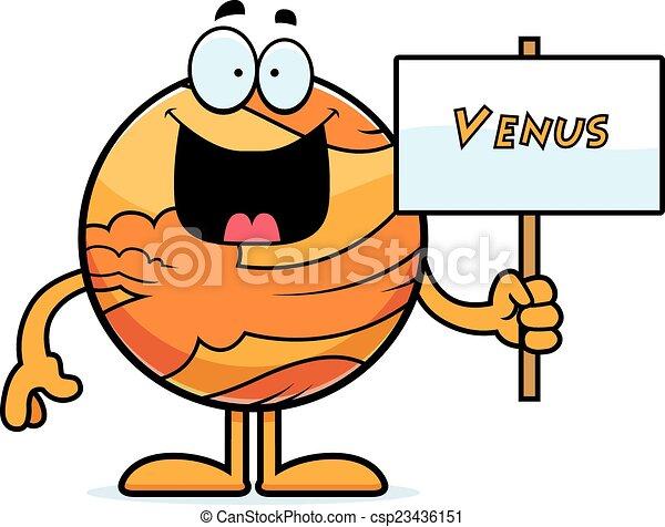cartoon venus sign a cartoon illustration of the planet clipart rh canstockphoto com hottentot venus clipart venus de milo clipart