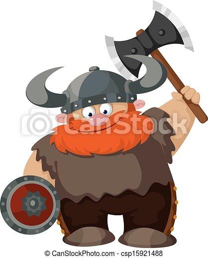 cartoon viking - csp15921488