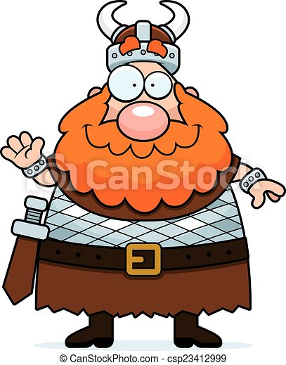 cartoon viking waving a cartoon illustration of a viking eps rh canstockphoto com viking clipart helmet viking clipart free