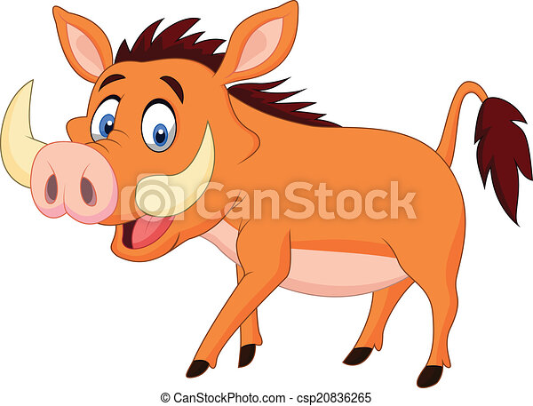 Cartoon warthog - csp20836265