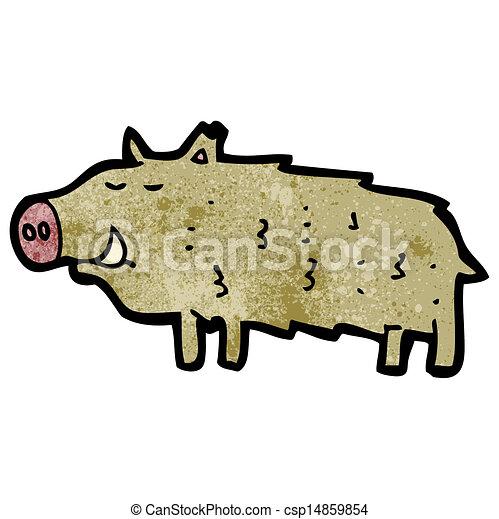 cartoon warthog - csp14859854