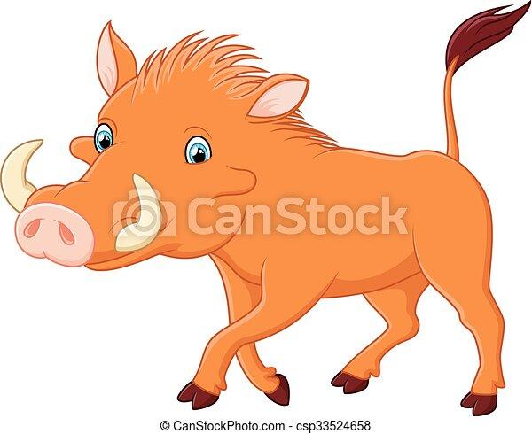 Cartoon warthog - csp33524658