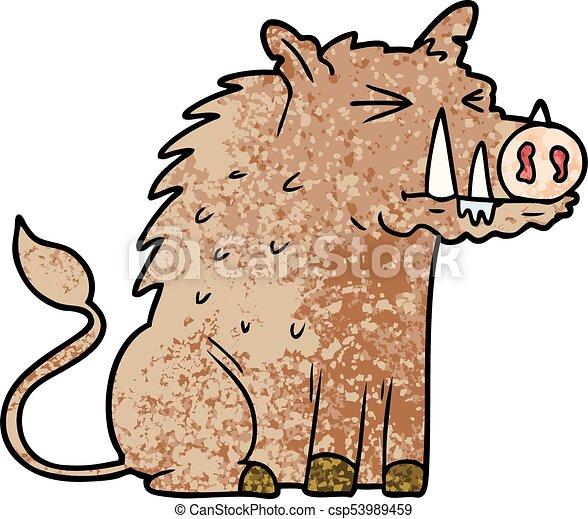 cartoon warthog - csp53989459