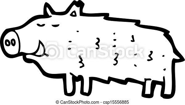 cartoon warthog - csp15556885