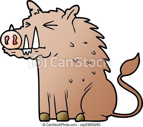 cartoon warthog - csp53855283