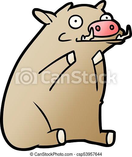 cartoon warthog - csp53957644